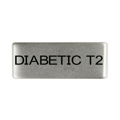 13mm Slate Diabetic Type 2 Badge for ROAD iD