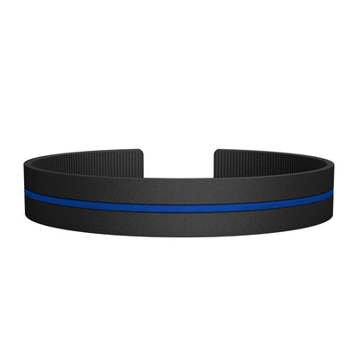ROAD iD Replacement Band 13mm Thin Blue Line Silicone Clasp
