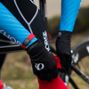 Professional Cyclist wearing ROAD iD Pin Tuck Wrist ID