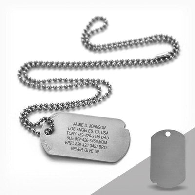 FIXX ID Dog Tag with Blank Side