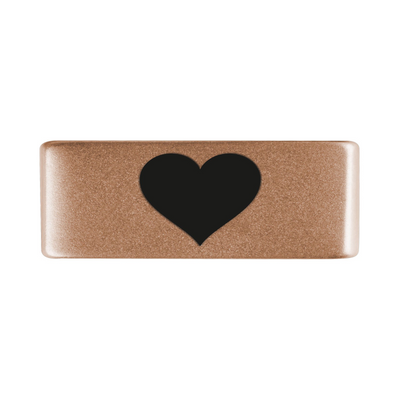 13mm Rose Gold Heart Badge for ROAD iD