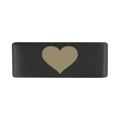 13mm Graphite Heart Badge for ROAD iD