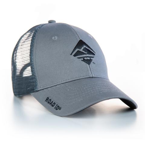 ROAD iD Gray Trucker Hat with Black ROAD iD Logo
