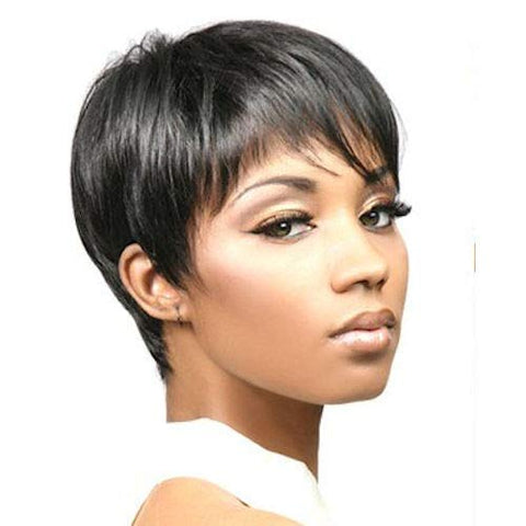 Short Straight Wigs for Black Women