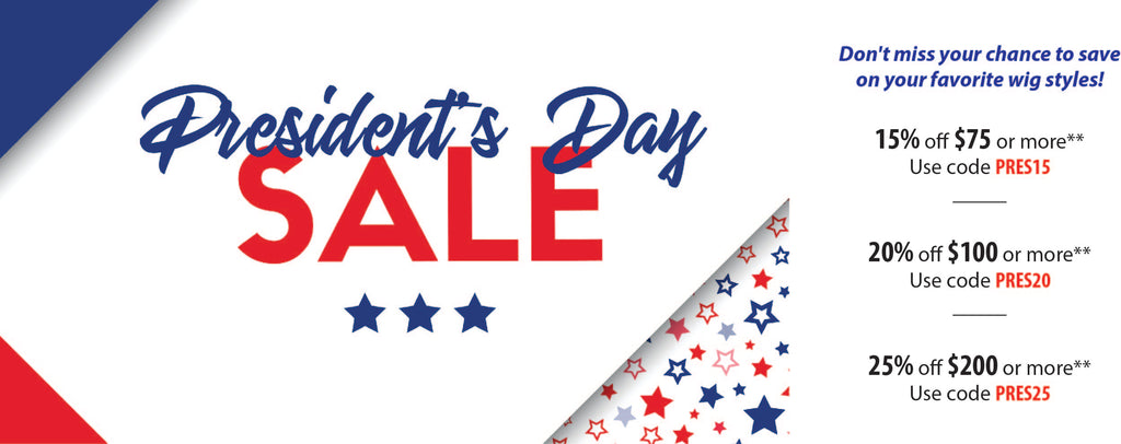Presidents Day Sale Wigs