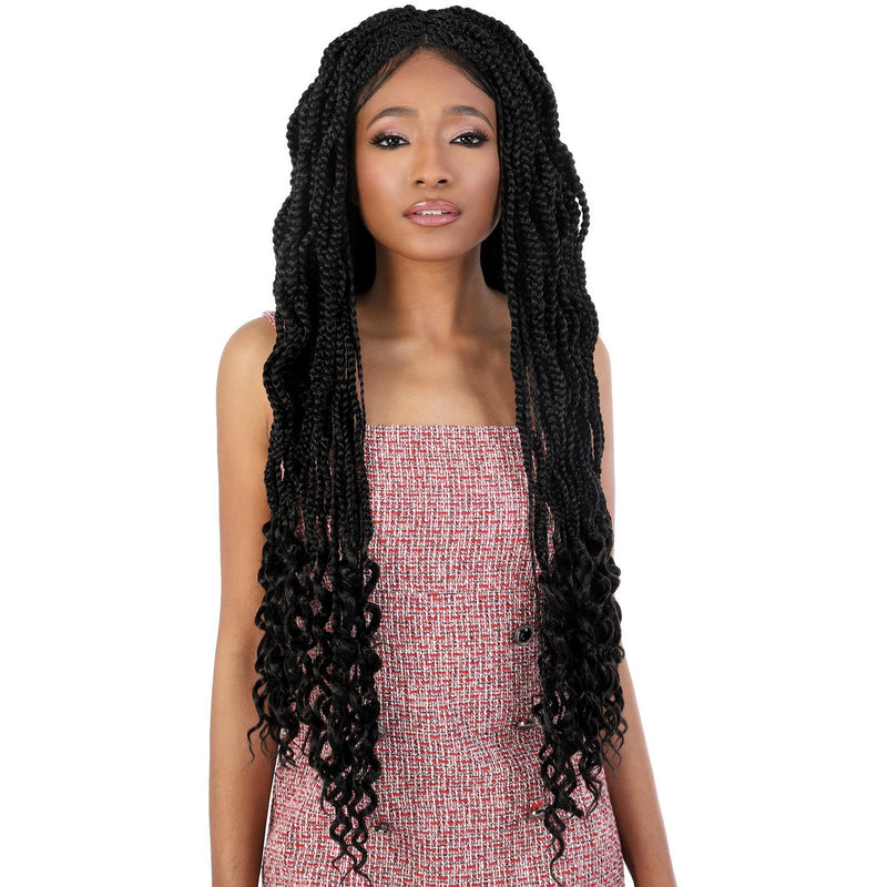 "Motown Tress 30"" X 3 Wavy Goddess Box Braid Crochet"