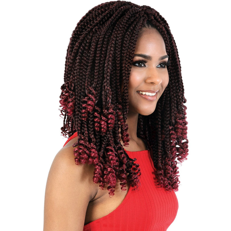 "Motown Tress 12"" X 4 Pack Box Braid Crochet"