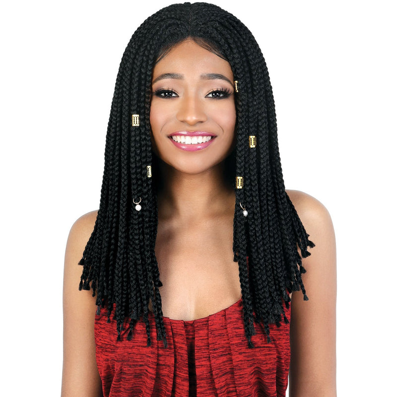 LDP-Box18 - Long Length Slayable and Spinable Braided Synthetic Wig | Motown Tress