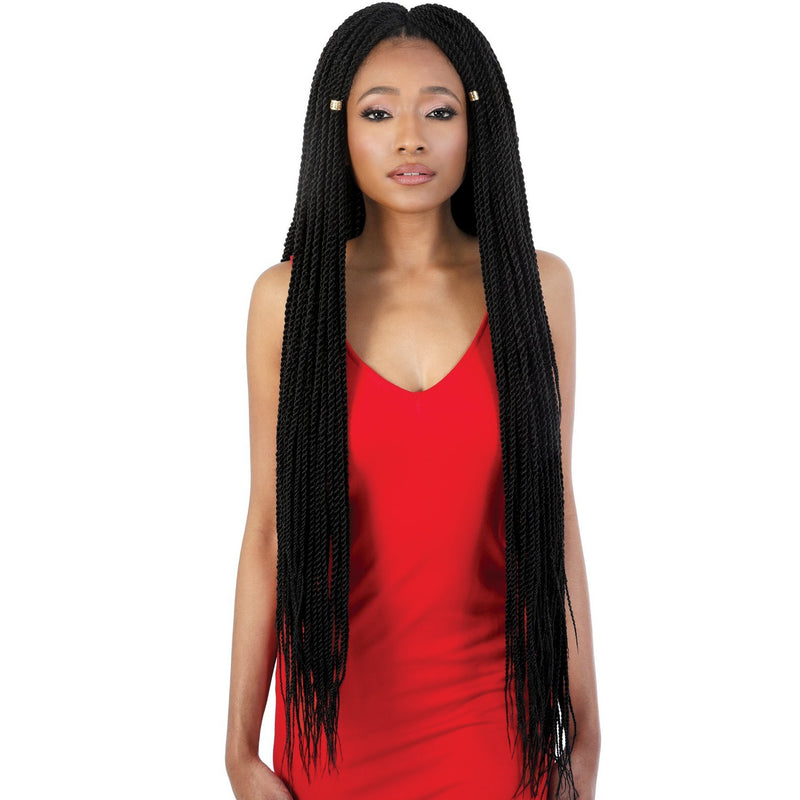 "Motown Tress 30"" X 3 Pack Pre-stretched Senegal Twist Crochet"