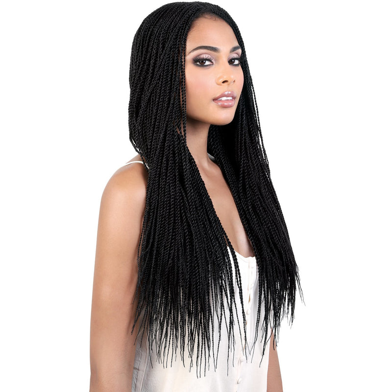 DP.Micro - Long Length Twist Braid Synthetic Wig | Motown Tress