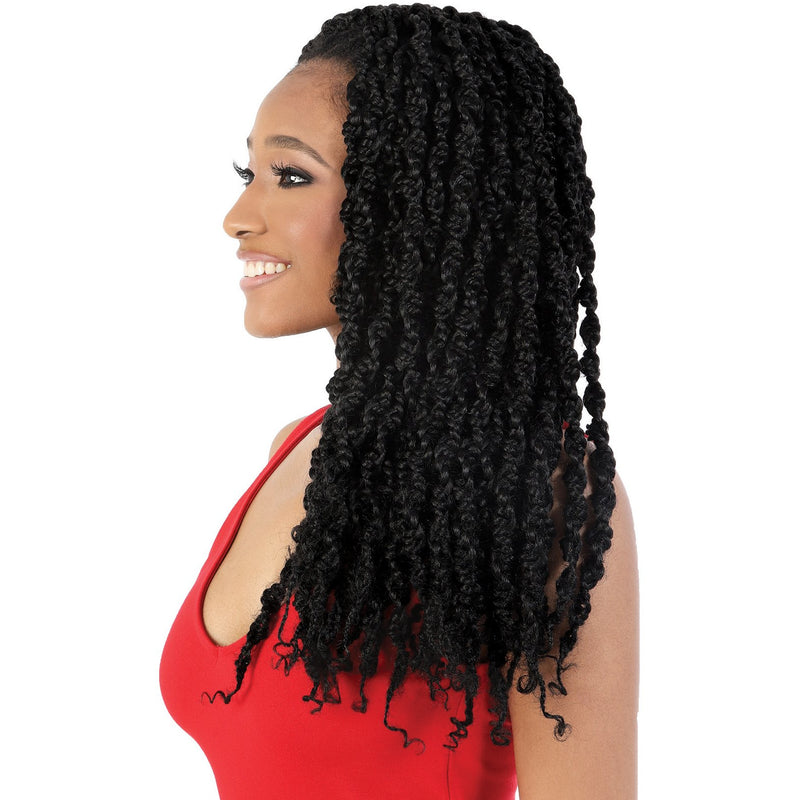 "Motown Tress 24"" X 2 Pack 3D Box Braid Passion Style Crochet"