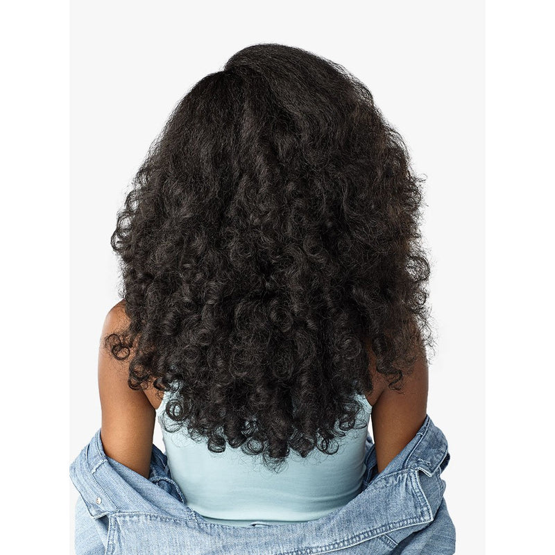 Long Curly Blow-Out Yaki Texture Lace Front Wig