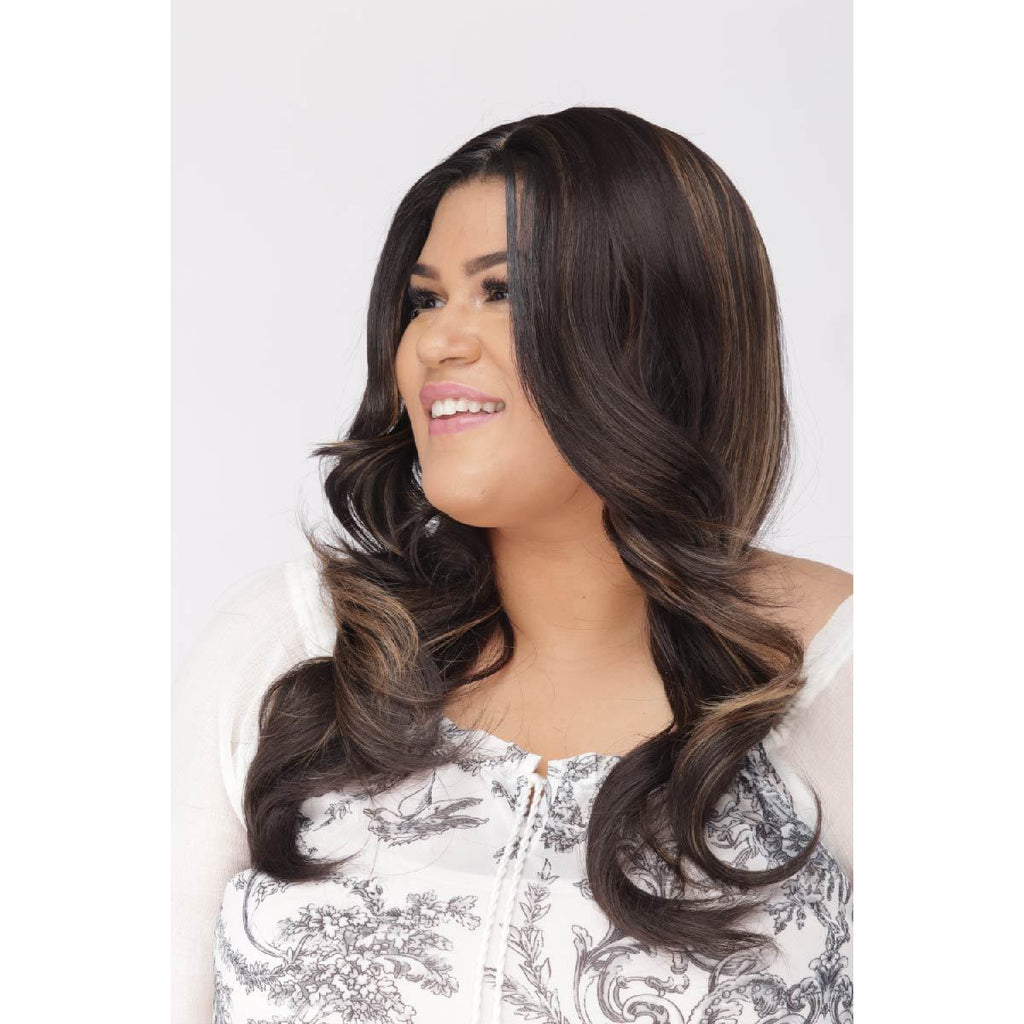 Petite Ellyse | Small Cap Size Wig | Synthetic Wavy Long Length | African American Wigs