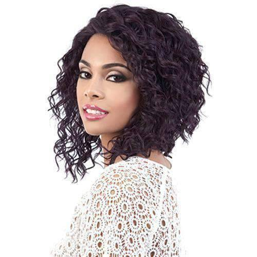 Alicia - Medium Length Curly Synthetic Wig | Motown Tress | African American Wigs - African American Wigs