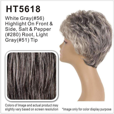 Image of AMY-V | Synthetic Wig (Traditional Cap) - African American Wigs