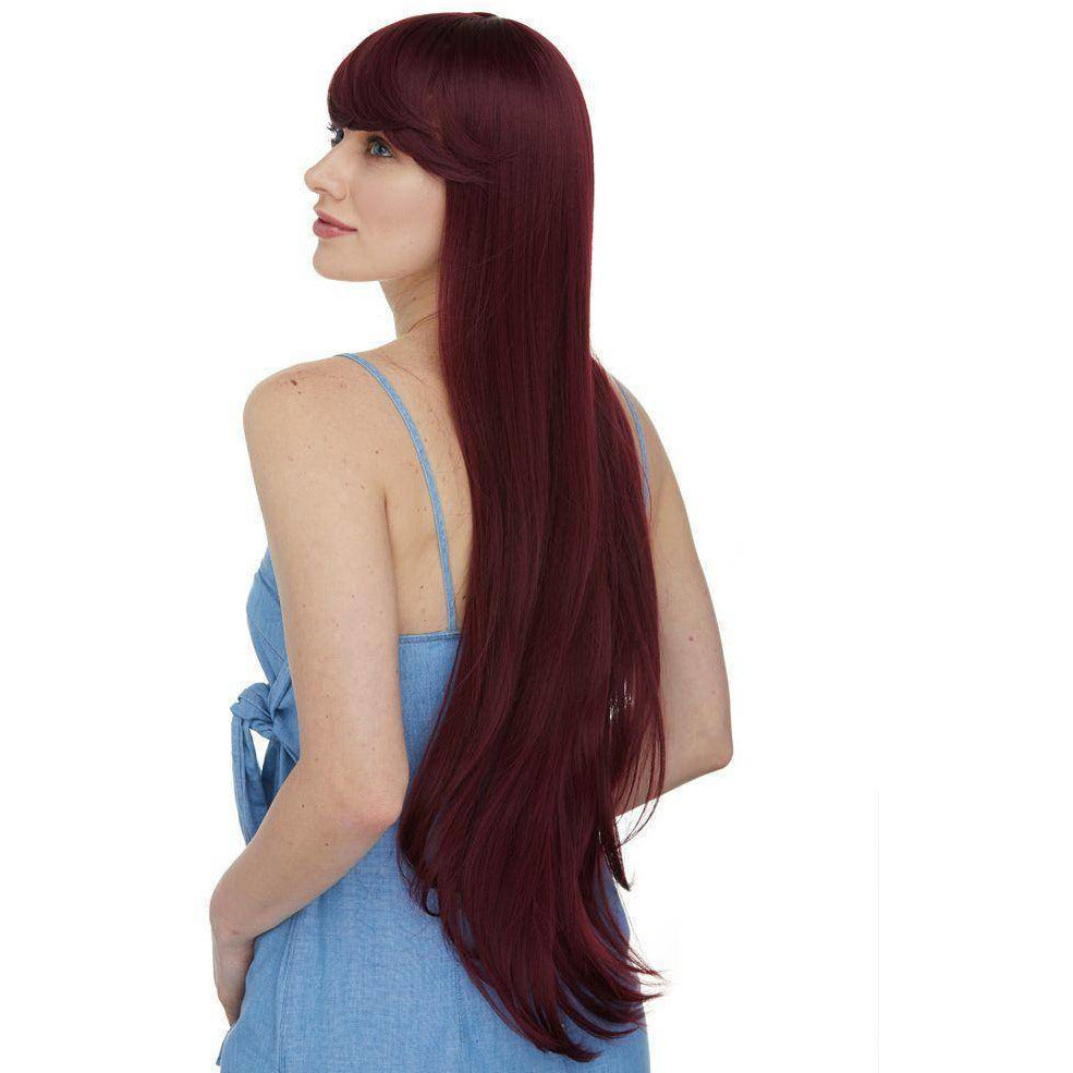 "Aphrodite | 26"" High Quality Synthetic Wigs with Bangs - African American Wigs"