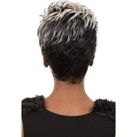Image of Aqua - Short Length Wavy Synthetic Wig | Motown Tress | African American Wigs - African American Wigs