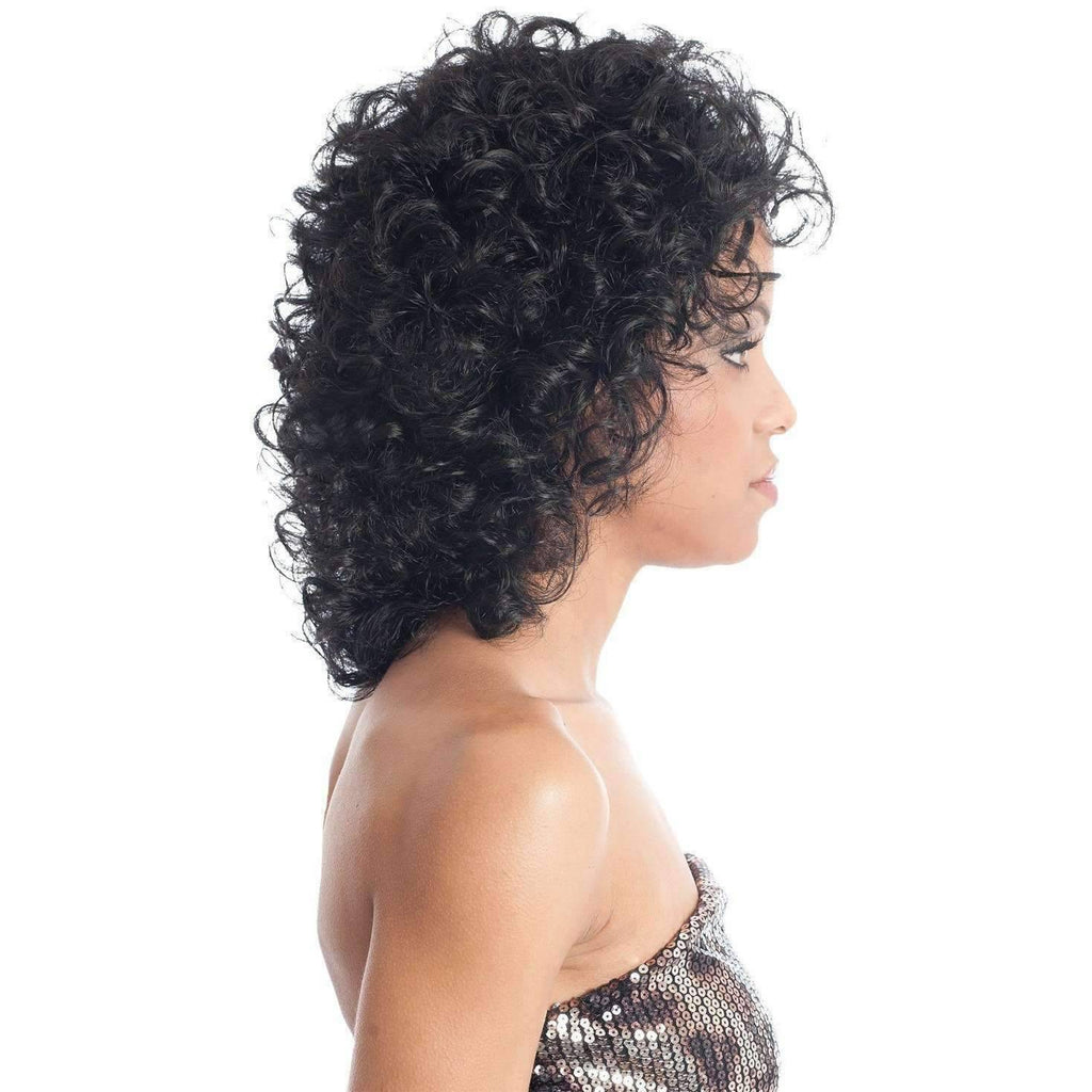 BG-V Synthetic Shoulder Length Layered Open Curls  Wig - Vivica Fox - African American Wigs