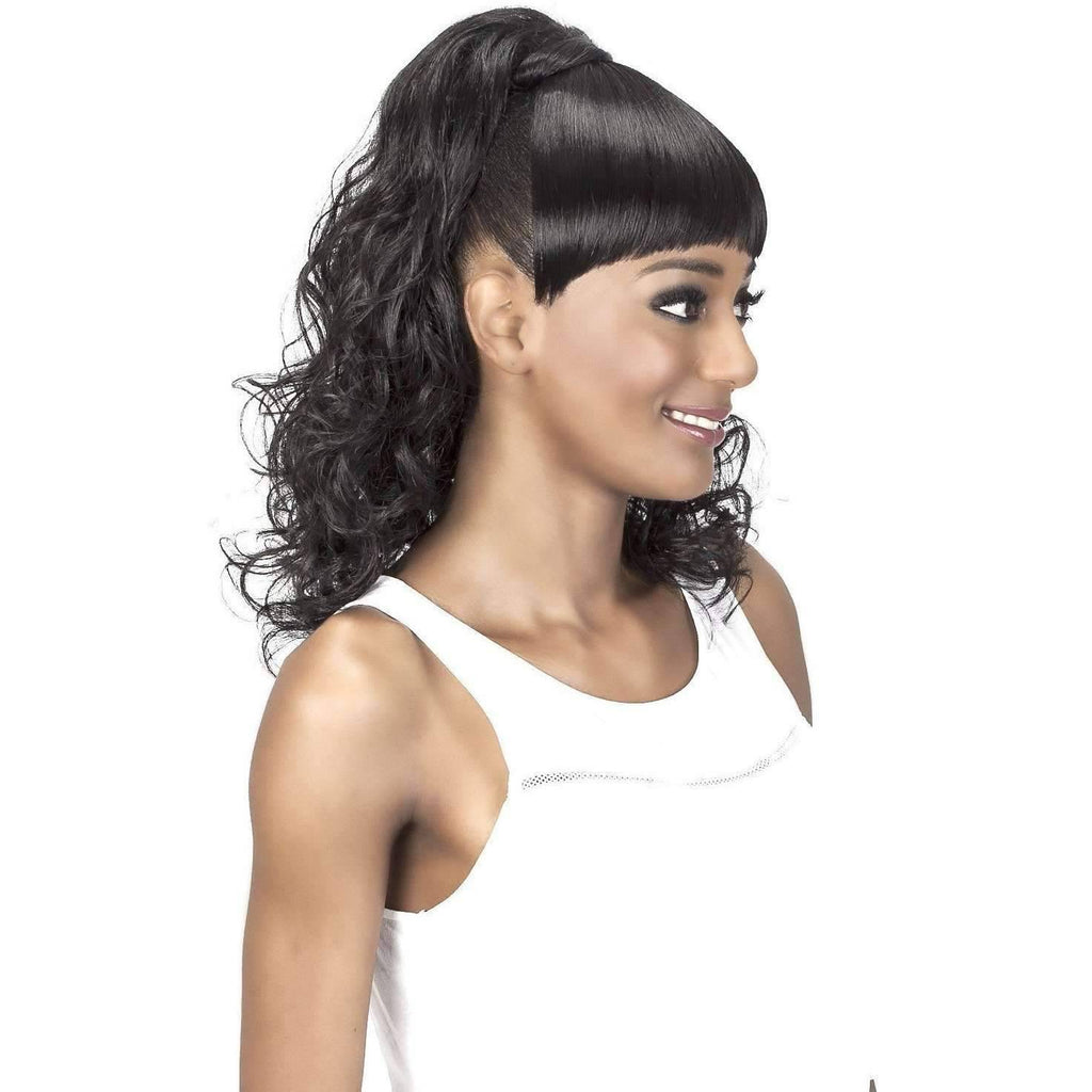 BP-FELICIA | Synthetic Bang and Ponytail - African American Wigs
