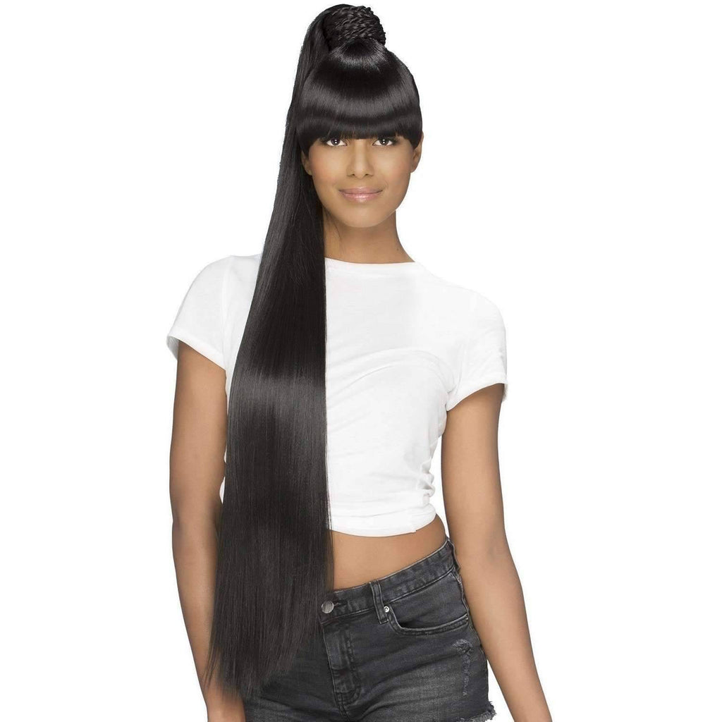 BP-KATE | Heat Friendly Synthetic Bang & Bun (Honeycomb Base) - African American Wigs