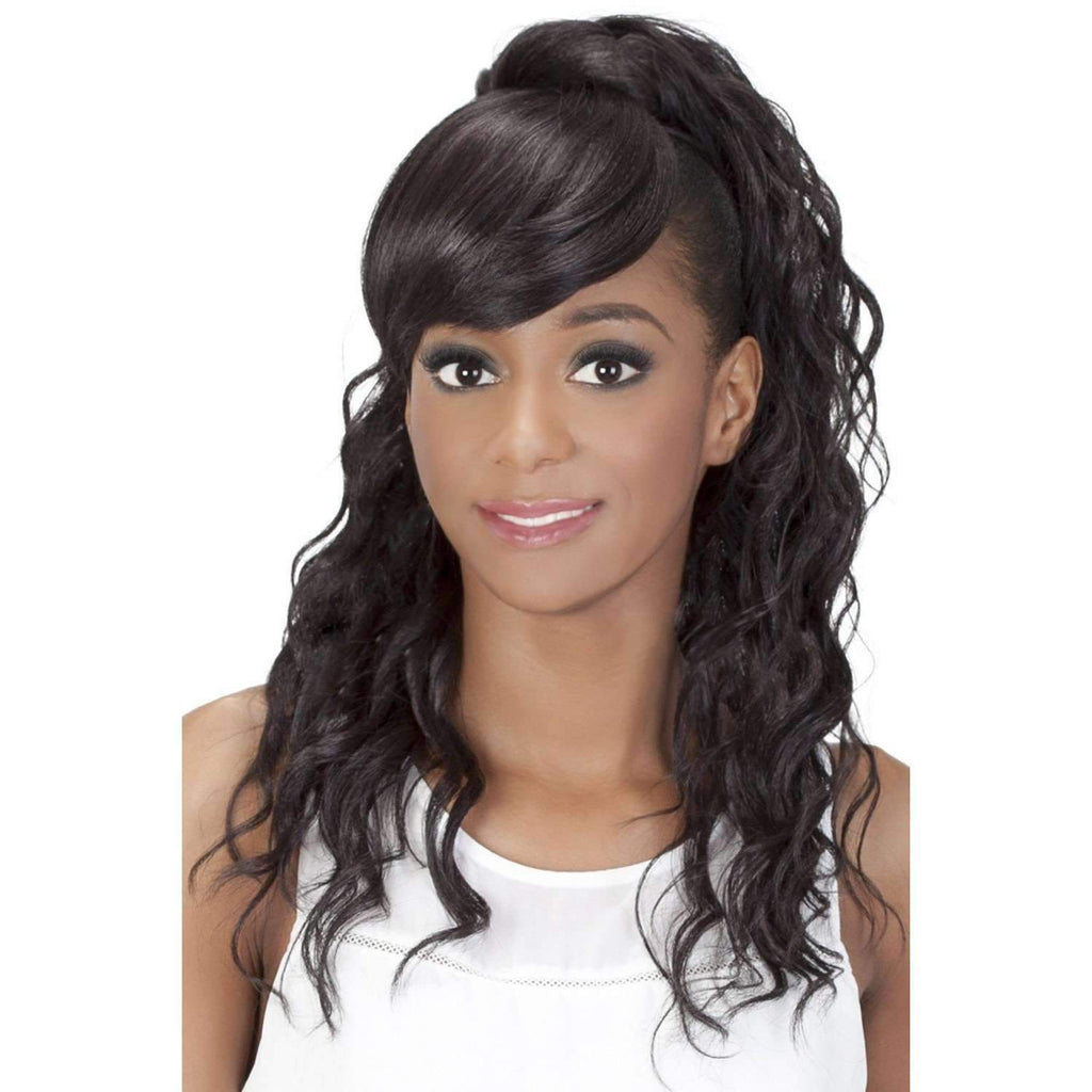 BP-KENNEDEI | Synthetic Heat Resistant Bang & Ponytail - African American Wigs