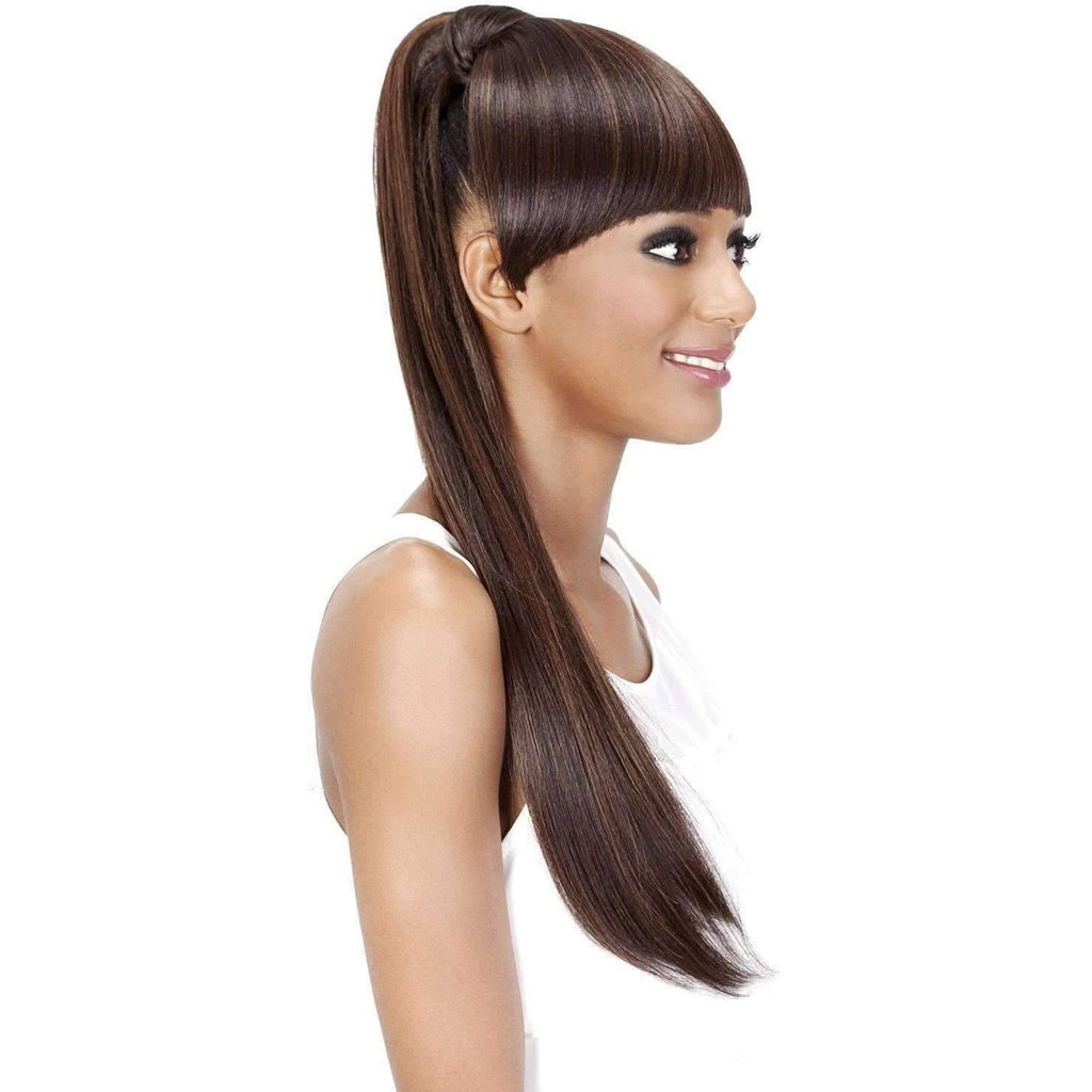 BP-LOUI | Synthetic Heat Resistant Bang & Ponytail (Honeycomb Base) - African American Wigs
