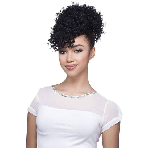 Image of BPB-POP | Heat Friendly Synthetic Bang & Bun (Honeycomb Base) - African American Wigs