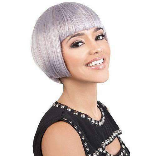 Brita - Short Length Straight Synthetic Wig | Motown Tress | African American Wigs - African American Wigs
