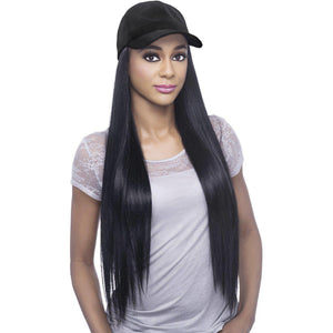"CD-ESSENT 23"" STRAIGHT HAIR WITH BLACK CAP (18PCS DIAMOND STONE)"