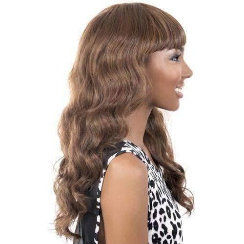 Cecille - Long Length Wavy Synthetic Wig | Motown Tress - African American Wigs