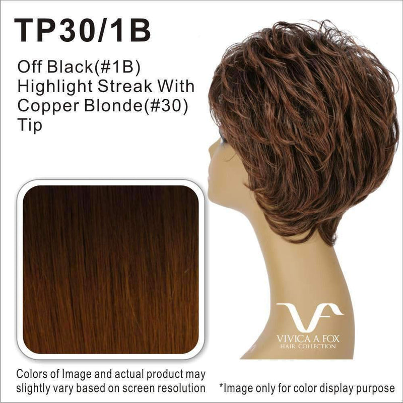 CELIA-V | Synthetic Heat Resistant Fiber Wig (Traditional Cap) - African American Wigs