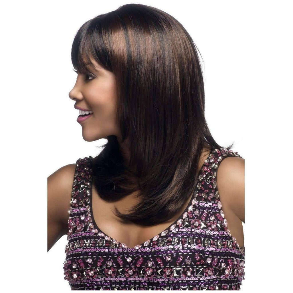 CHARLI-V | Synthetic Heat Resistant Fiber Wig (Traditional Cap) Color 1B - African American Wigs