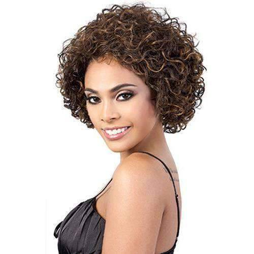 Charlie - Medium Length Curly Synthetic Wig | Motown Tress | African American Wigs - African American Wigs