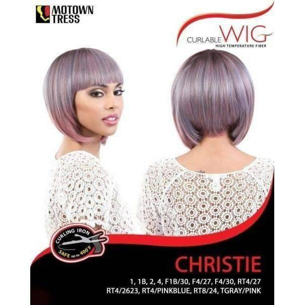 Christie - Short Length Straight Synthetic Wig | Motown Tress | African American Wigs - African American Wigs