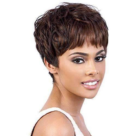 Image of Cilla - Short Length Wavy Synthetic Wig | Motown Tress | African American Wigs - African American Wigs