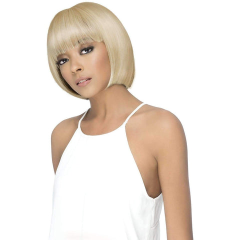 Image of DANISH Layered Synthetic Fringe Ends Bob With Layered Fringe Bang - Vivica Fox - African American Wigs