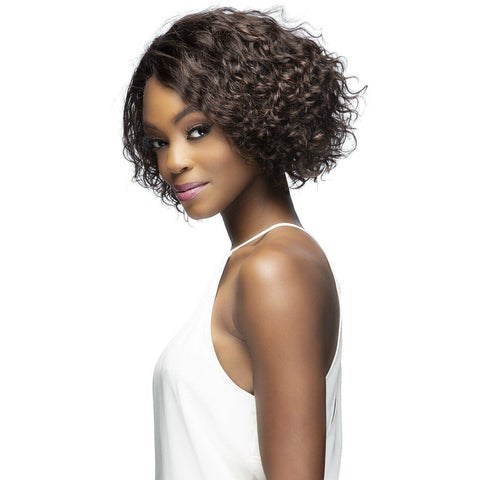 "Image of DELANEY 10"" LAYERED Remi Human Hair Lace Front Wig Vivica Fox"