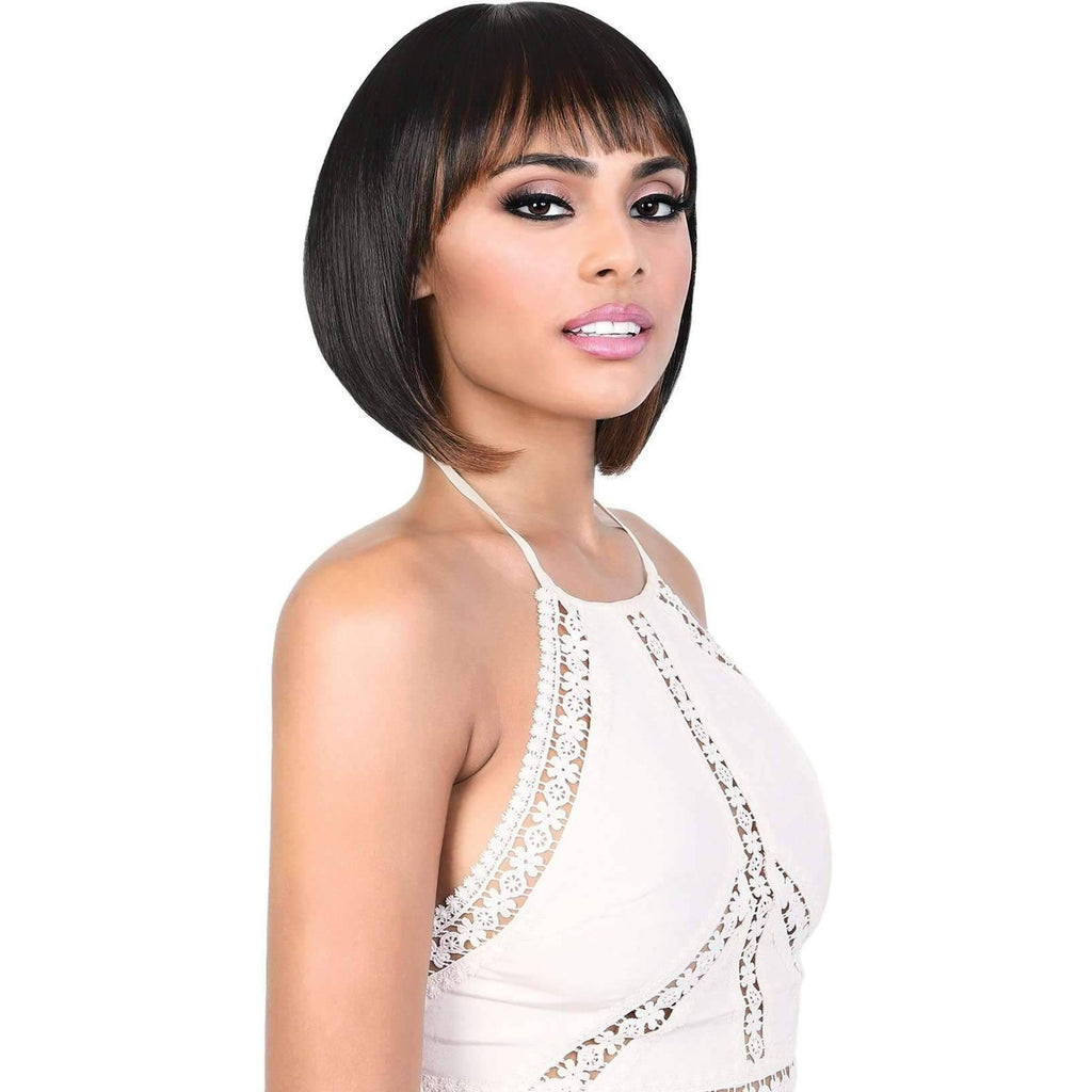 Delite - Short Length Straight High Quality Synthetic Wigs | Motown Tress - African American Wigs