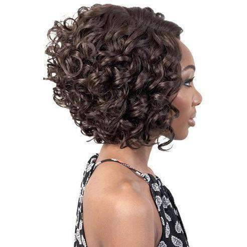 DP. Yuri - Medium Length Curly Synthetic Wig | Motown Tress | African American Wigs - African American Wigs