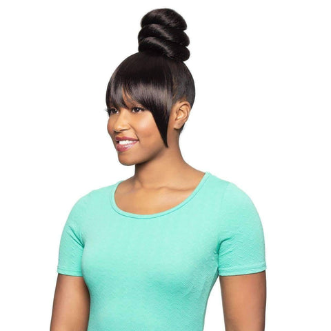 Duet 05 | 2 in 1 Dome with Bang Synthetic Drawstring Hairpiece - African American Wigs