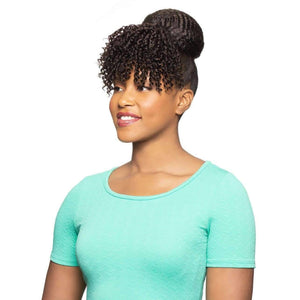 Duet 07 | 2 in 1 Dome with Bang Synthetic Drawstring Hairpiece - African American Wigs