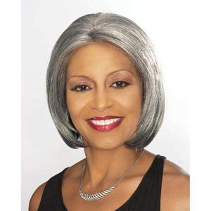 ELEANOR - Foxy Silver Synthetic Wig in Color #1B - African American Wigs
