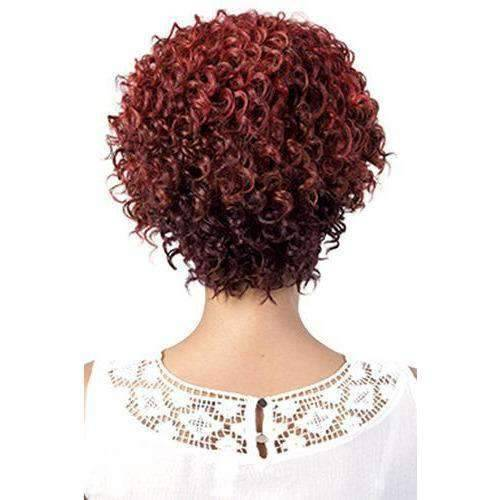 Elsie - Short Length Curly Synthetic Wig | Motown Tress | African American Wigs - African American Wigs
