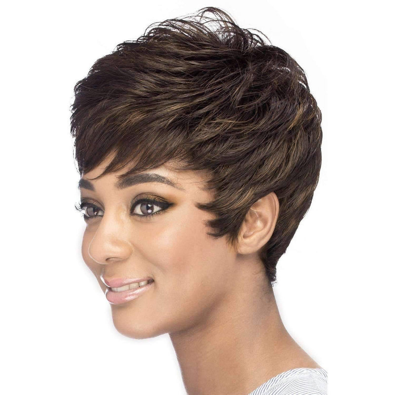 EVELYN Synthetic Short Loose Tape Curl With Tapered Back Wig - Vivica Fox - African American Wigs