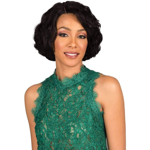 Image of Ezra | 100% Remi Human Hair Lace Side Part Wig |  Bobbi Boss Wig - African American Wigs