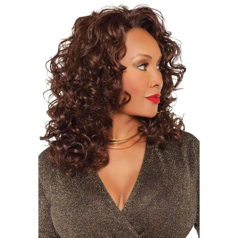 Image of FHW-DEMI-V SYNTHETIC 3/4 WIG - African American Wigs