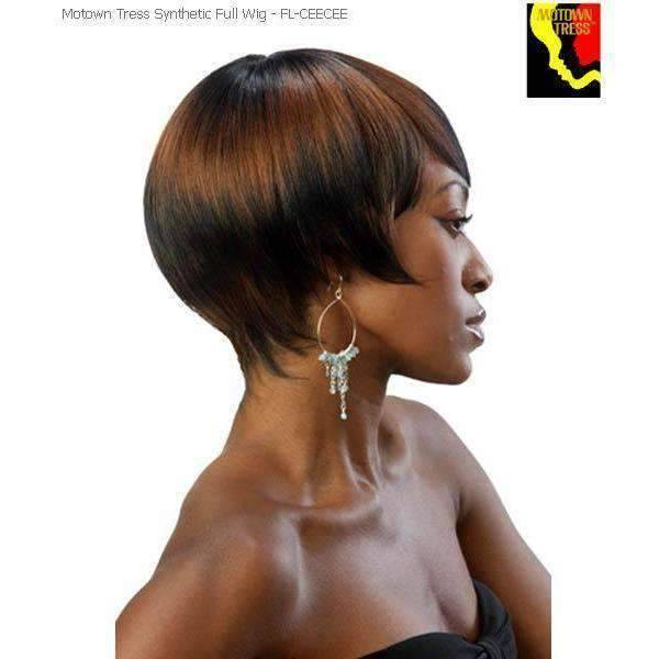 fl-Cee Cee Short Synthetic Wig Motown Tress Color 2 - African American Wigs
