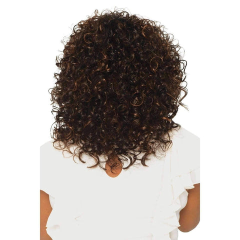 Image of Foxy - Vivica Fox Lace Front Synthetic Wig in Color #1B - African American Wigs