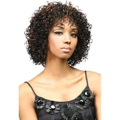FXLB-206 - Medium Length Curly Synthetic Wig | Motown Tress | African American Wigs - African American Wigs