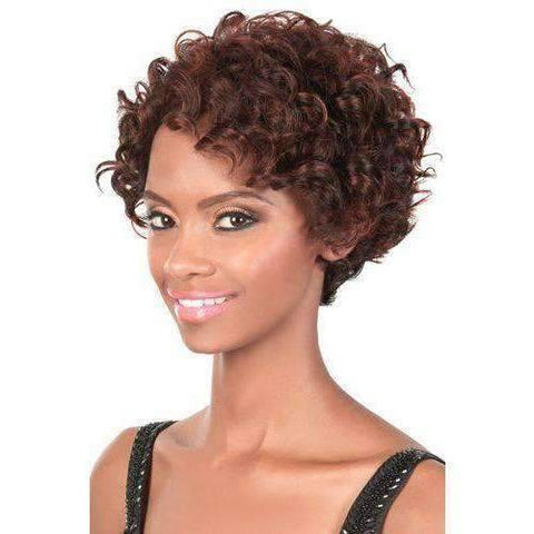 Image of GG-95 Short Synthetic Wig Motown Tress Color 1B - African American Wigs
